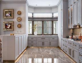 2019欧式别墅房子厨房地板砖设计装修图片图片
