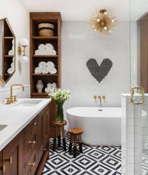 卫生间地板砖图片 2019卫生间地板砖 卫生间地板砖装修效果图