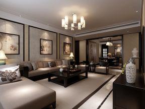 2019新中式风格新房三居客厅吊顶灯装修效果图