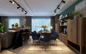 133平米混搭三居新房餐厅吧台装饰效果图图片