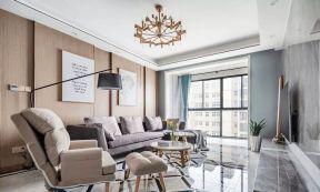 沙發背景墻造型 客廳地板磚效果圖大全