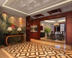 153平米中式四居客廳餐廳隔斷裝修設計效果圖