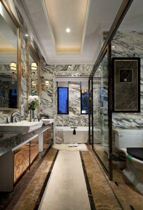 2019欧式卫生间装修效果图欣赏 2019欧式卫生间瓷砖装修效果图