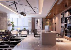 1200平辦公樓經理辦公室吊頂設計效果圖