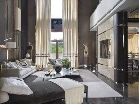 2019現代風格別墅客廳效果圖 現代客廳背景墻設計效果圖片