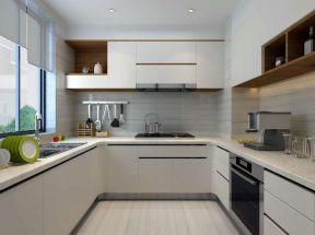 128平米三居现代厨房装修设计效果图欣赏