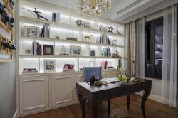 法式風格家庭書房整體書柜設計效果圖