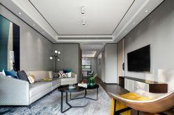 新中式風格客廳家具沙發擺放裝修圖2020