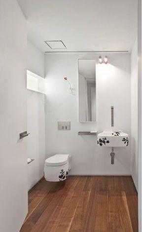 极简风格卫生间 白色卫生间装修