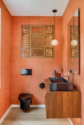 2019创意卫生间设计效果图  创意背景墙设计图片