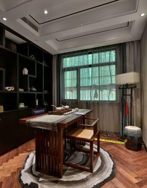 中式茶室博古架 中式茶室裝修效果圖