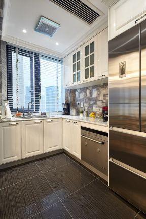 轉角櫥柜設計 廚房地磚顏色圖片