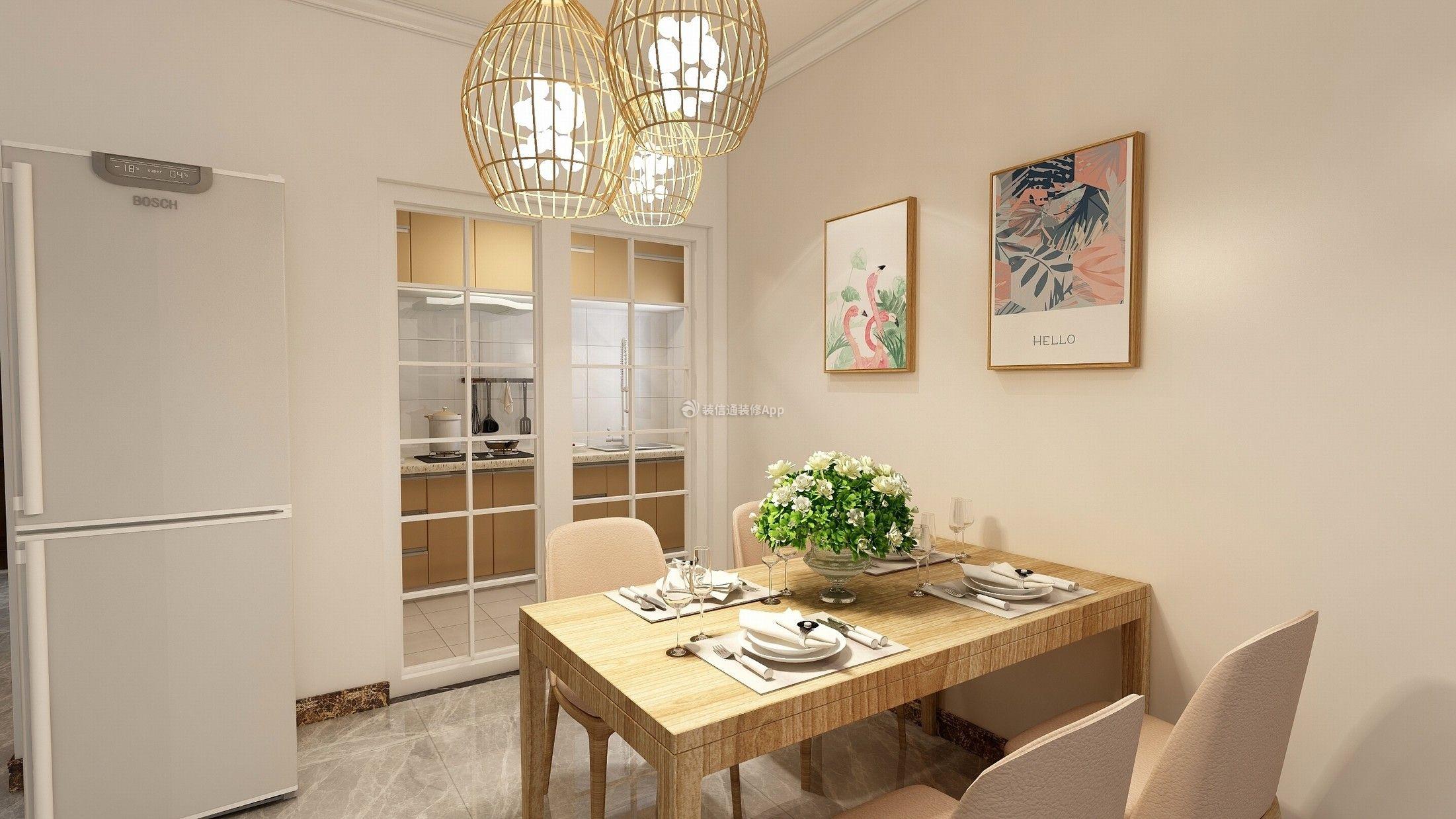 阳光城丽景湾126平家庭餐厅餐桌摆放设计图