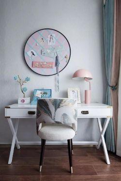 白金漢宮中式風格新房室內梳妝臺裝修圖片