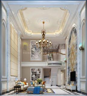 200平银谷别墅挑高客厅吊灯装修设计图欣赏