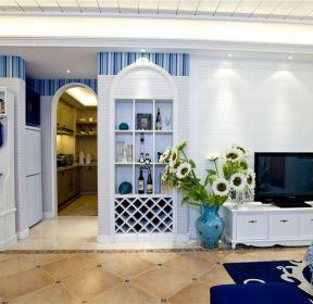 100平花果园地中海风格客厅酒柜设计效果图-每日推荐