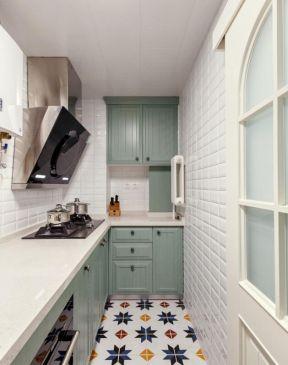 小户型厨房装修设计图片 2019简约小厨房地砖效果图图片