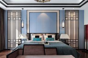 2019新中式臥室床頭燈圖片 中式臥室床頭背景墻效果圖