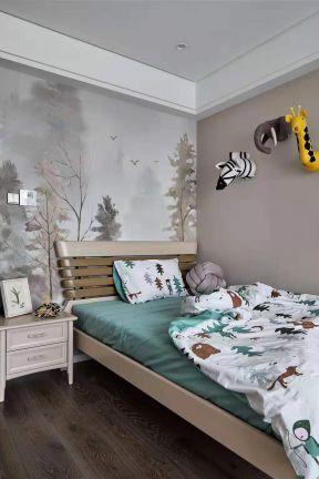 創意背景墻設計圖片 2019兒童房壁紙設計效果圖圖片