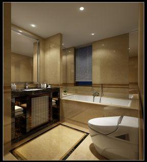 凯莱国际260平复式楼卫生间砖砌浴缸设计图图片