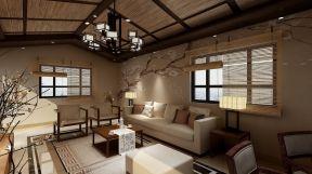 新中式風格客廳吊頂2019大氣新中式風格客廳設計圖片