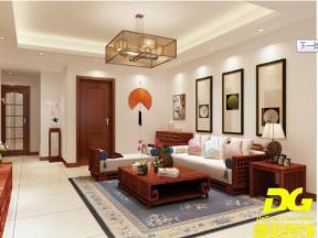 江南名都147平米中式客厅装修设计效果图欣赏