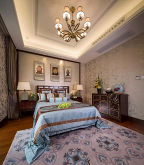 2019簡約中式臥室裝修效果圖 中式臥室家具圖片 中式臥室設計