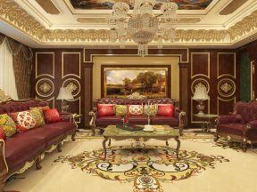奢華客廳設計圖片  巴洛克風格客廳裝修效果圖