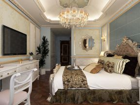 臥室床頭設計 臥室電視墻裝飾 臥室電視墻圖