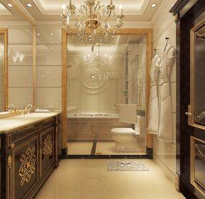 巴洛克風格大戶型衛生間浴室柜設計效果圖片-每日推薦