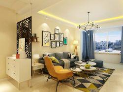 朗庭國際北歐現代風格客廳地毯裝飾設計圖大全