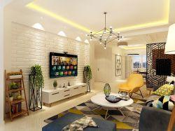朗庭國際北歐現代風格客廳花架裝飾效果圖賞析