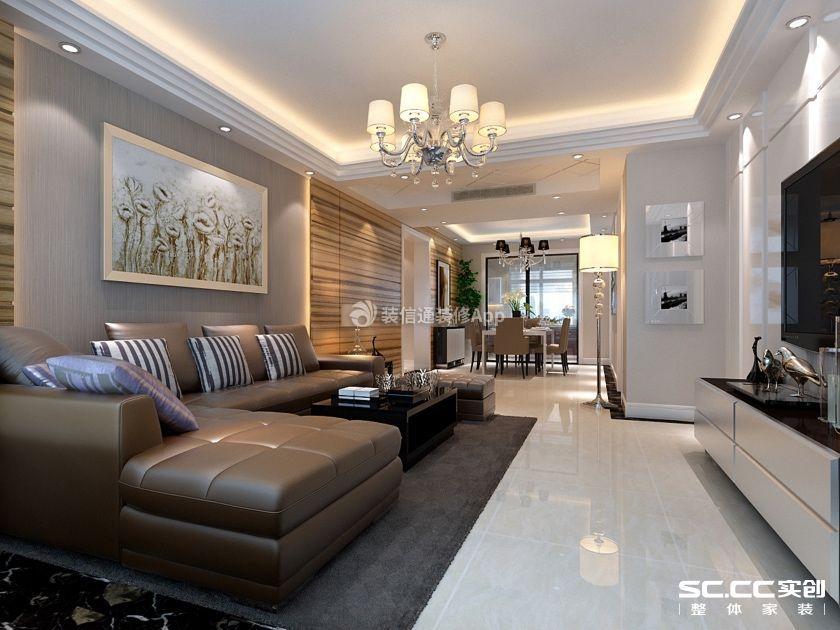 中信新城120平米三居室现代简约风格装修效果图