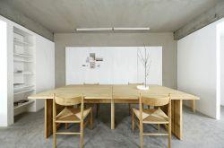 杭州極簡風格公司辦公室木質辦公桌裝修效果圖