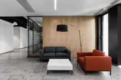 杭州簡約風格辦公室接待區沙發擺放裝修效果圖