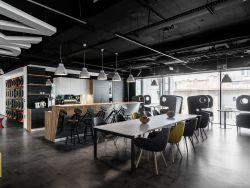 杭州現代風格公司辦公室茶水間設計裝修效果圖