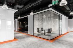 杭州辦公室裝修洽談室玻璃設計效果圖片