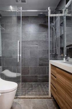 富麗華府90平新房衛生間淋浴房隔斷設計圖