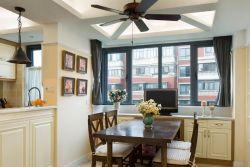 115平米美式風格新房餐廳吊燈裝修效果圖片