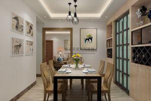 福盛家园——淡雅原木色新中式装修