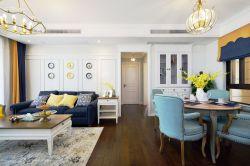 東方明珠嘉苑103平歐式風格餐廳吊燈設計效果圖