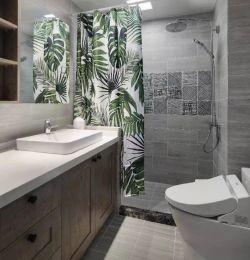 萬科城混搭風格新房衛生間浴簾隔斷設計效果圖