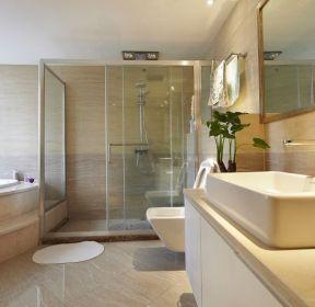 綠地悅蓉公館130平家庭衛生間淋浴房設計圖-每日推薦