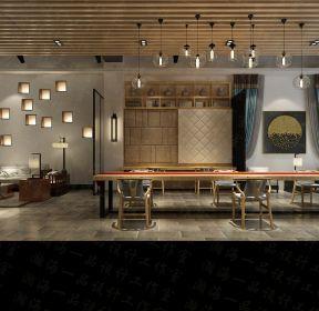 五寨商鋪300平米中式餐廳吊頂裝修設計效果圖-每日推薦