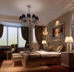汕尾碧桂园品清1号320平米别墅中式风格卧室装修设计效果图-每日推荐