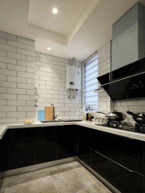 裝修效果圖簡約風格廚房 黑色櫥柜裝修效果圖片 2019美式黑色櫥柜效果圖
