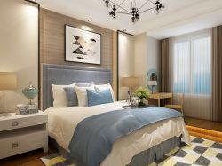 89平米兩居室混搭風格臥室裝修效果圖片賞析