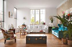 泰合尚渡地中海82平二居室客廳裝修案例