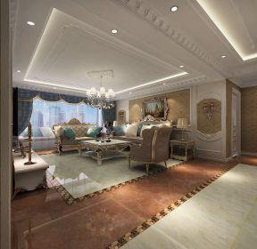 鑫豐國際105平歐式風格客廳吊頂設計效果圖欣賞-每日推薦