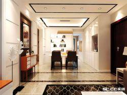 120平三居室現代風格餐廳裝修效果圖片大全